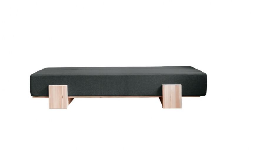 Canapea Extensibila 3 locuri, stofa si cadru lemn de pin, Umu Dark Grey, l200xA66xH40 cm