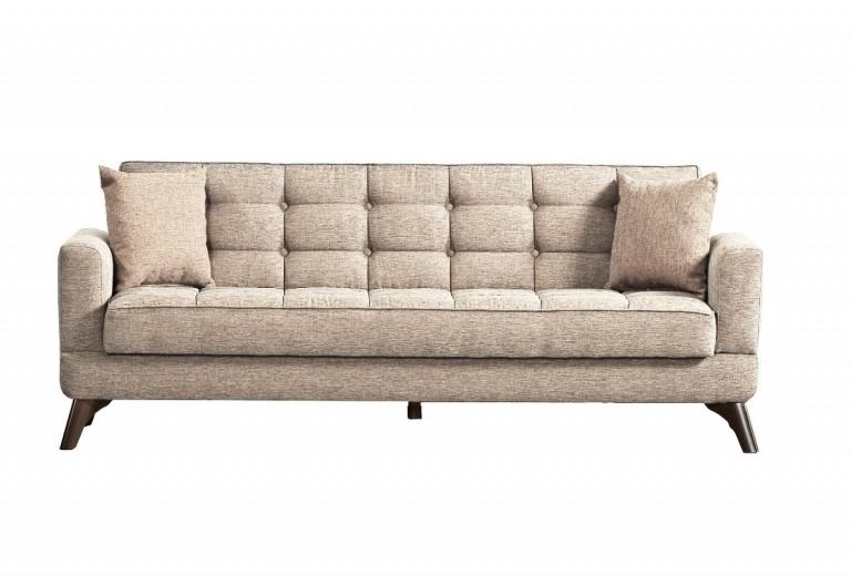 Canapea extensibila cu lada de depozitare, 3 locuri Los Angeles Crem, l220xA84xH86 cm