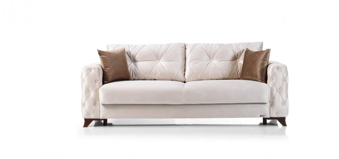 Canapea extensibila cu lada de depozitare, 3 locuri Soci Ivoir K2, l232xA96xH85 cm