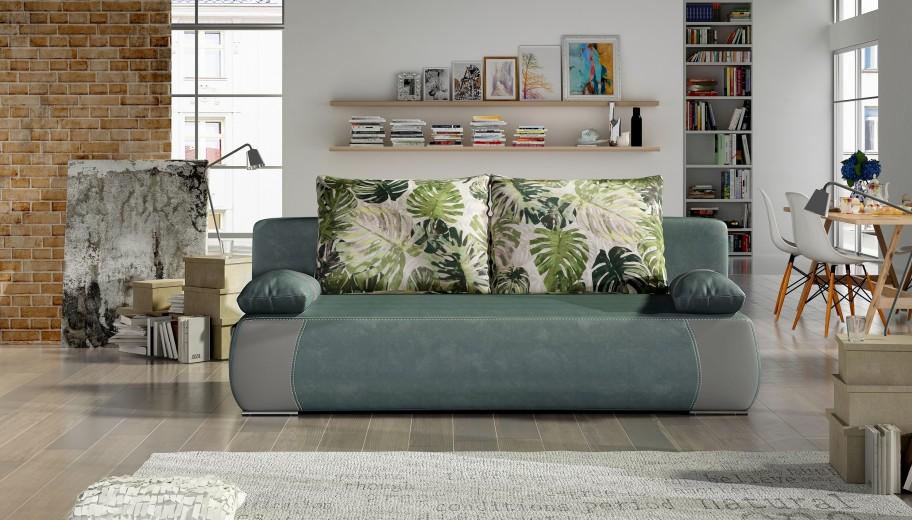 Canapea extensibila cu lada de depozitare, 3 locuri Enjoy, L204xA88xH94 cm