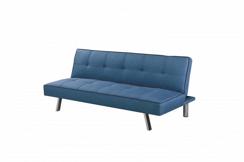 Canapea extensibila tapitata cu stofa, 2 locuri Carlo Blue, l175xA83xH74 cm