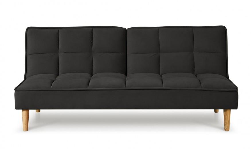 Canapea extensibila tapitata cu stofa, 3 locuri Lokken Dark Grey, l176xA81xH81 cm