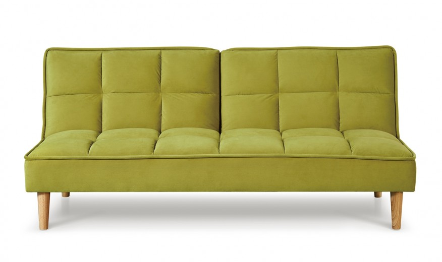 Canapea extensibila tapitata cu stofa, 3 locuri Lokken Green, l176xA81xH81 cm