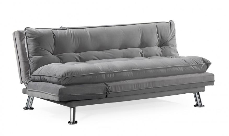 Canapea extensibila tapitata cu stofa, 3 locuri Sonder Velvet Grey, l176xA91xH79 cm