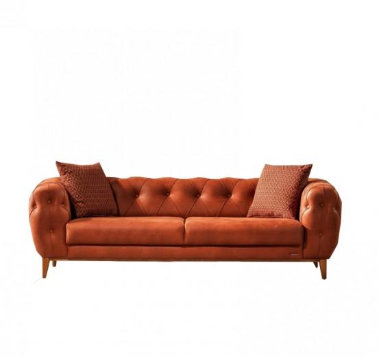 Canapea fixa tapitata, 3 locuri Lord Caramiziu K2, l242xA102xH75 cm