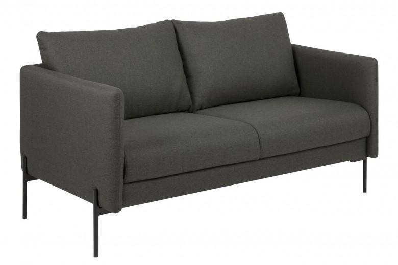 Canapea fixa tapitata cu stofa, 2,5 locuri Kingsley Gri inchis, l156xA82xH85 cm
