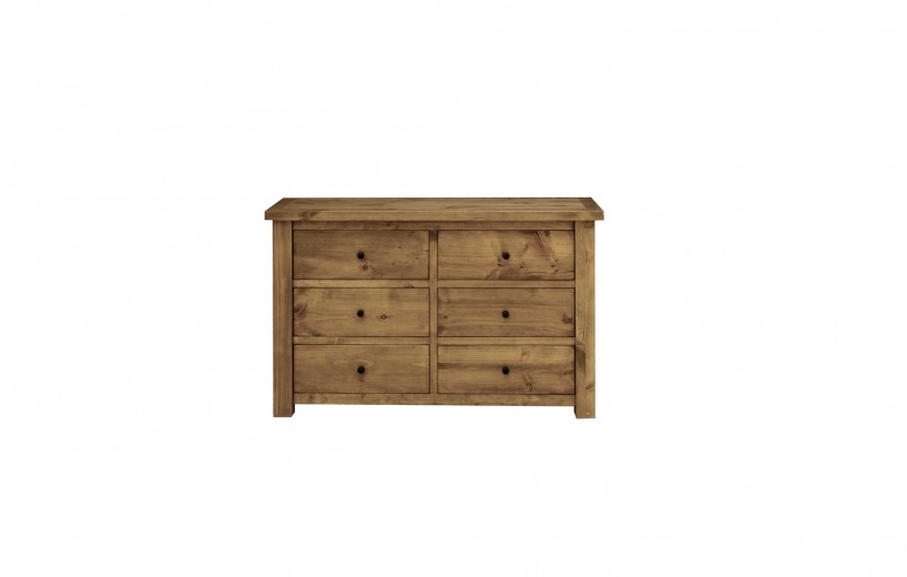 Comoda din lemn de pin Carolina, l130xA49xH84 cm