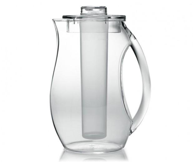 Carafa cu capac si recipient pentru gheata, 2,L, Ø10xH25 cm, On Ice Transparent