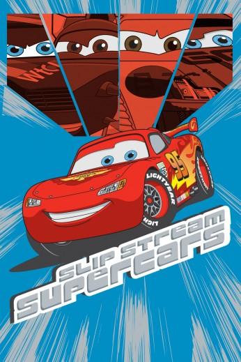 Covor Disney Kids Cars Blue / Red 012, Imprimat Digital