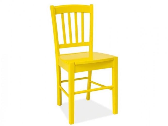 Scaun din lemn CD-57 Yellow, l40xA36xH85 cm