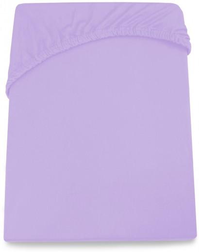 Cearceaf pentru saltea cu elastic Amelia Violet-90 - 100 x 200 cm