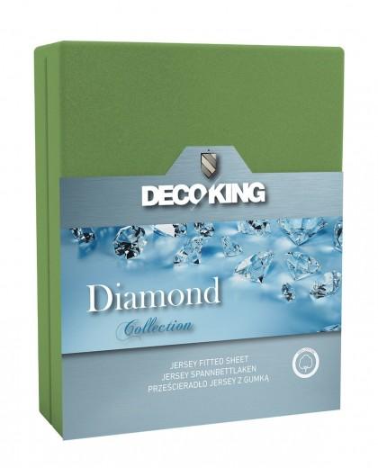 Cearceaf pentru saltea cu elastic Diamond Green