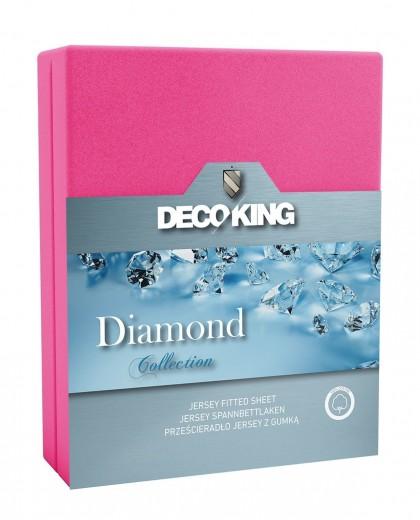 Cearceaf pentru saltea cu elastic Diamond Pink-200 x 220 cm