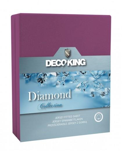 Cearceaf pentru saltea cu elastic Diamond Violet