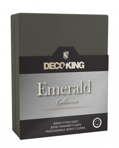 Cearceaf pentru saltea cu elastic Emerald Dark Grey