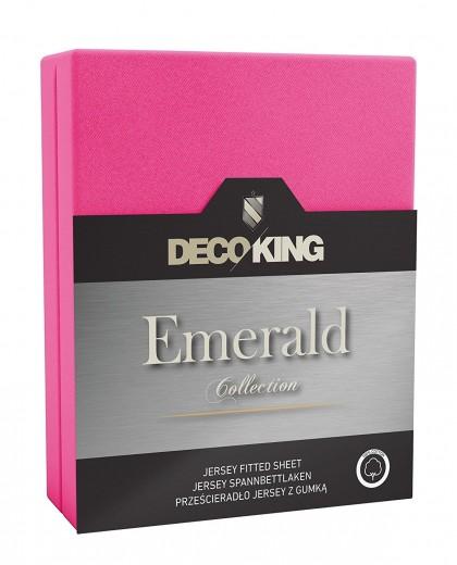 Cearceaf pentru saltea cu elastic Emerald Pink