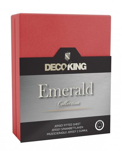 Cearceaf pentru saltea cu elastic Emerald Red