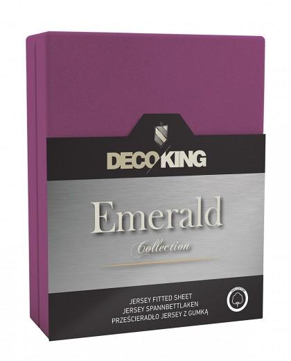 Cearceaf pentru saltea cu elastic Emerald Violet