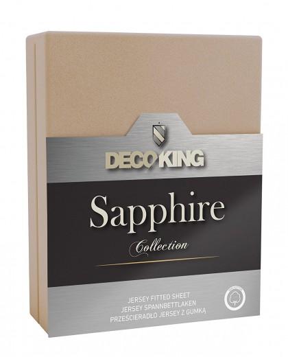 Cearceaf pentru saltea cu elastic Sapphire Beige