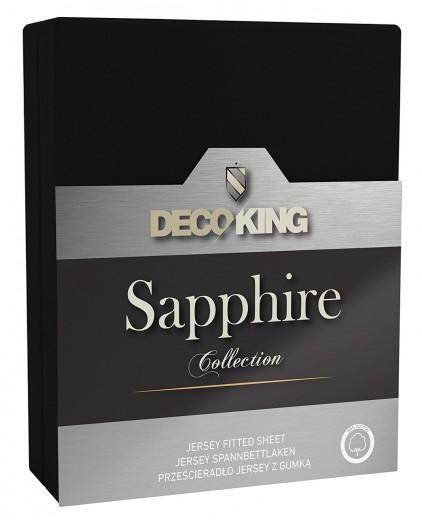 Cearceaf pentru saltea cu elastic Sapphire Black