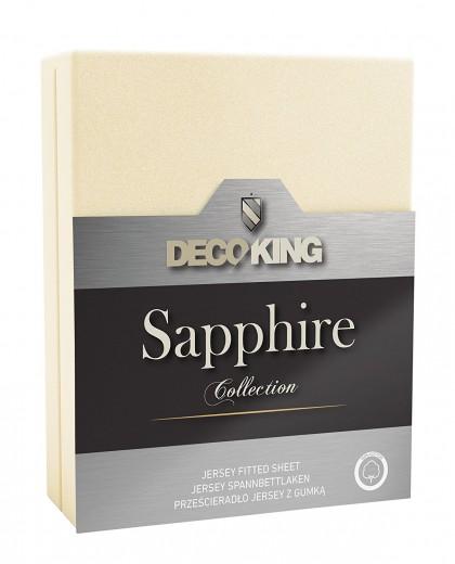 Cearceaf pentru saltea cu elastic Sapphire Ecru