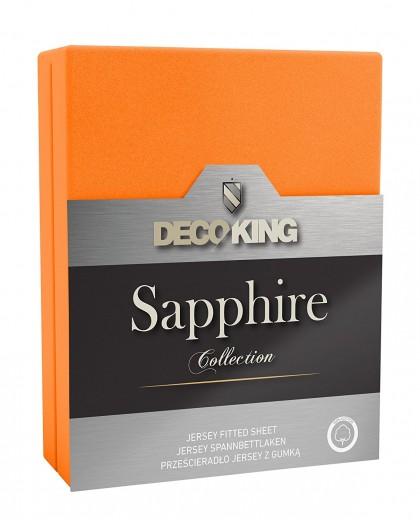 Cearceaf pentru saltea cu elastic Sapphire Orange