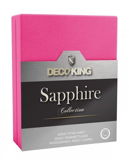 Cearceaf pentru saltea cu elastic Sapphire Pink