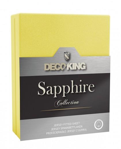 Cearceaf pentru saltea cu elastic Sapphire Yellow