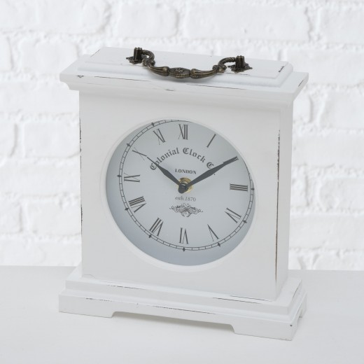 Ceas de masa Betty Alb, L21xl24 cm