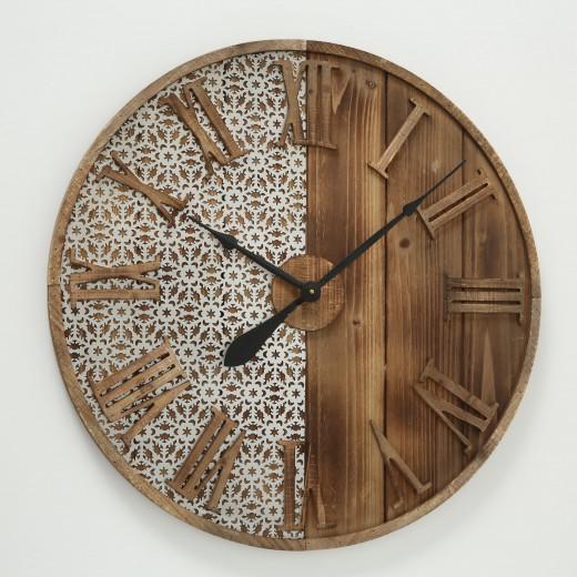 Ceas de perete Abbey Natural, Ø70 cm