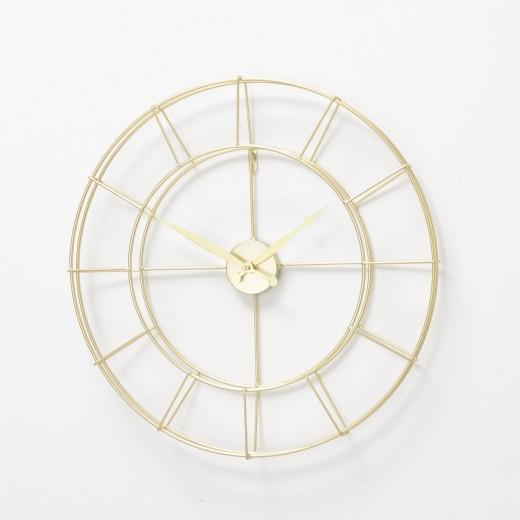 Ceas de perete Alisha Auriu, Ø57 cm