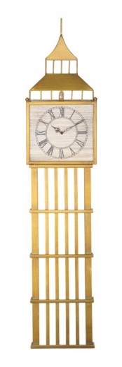 Ceas de perete Big Ben Auriu, 21,5 x 100 cm