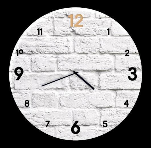 Ceas de perete Brick BH018, Ø 30 cm