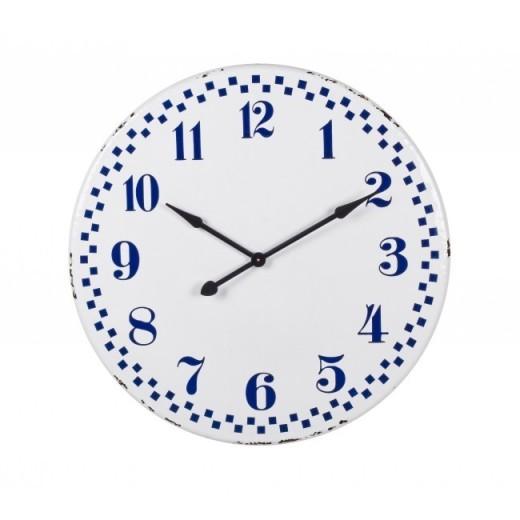 Ceas de perete Curt Alb / Albastru, Ø92 cm