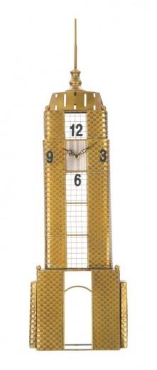 Ceas de perete Empire Building Auriu, 23,5 x 78 cm