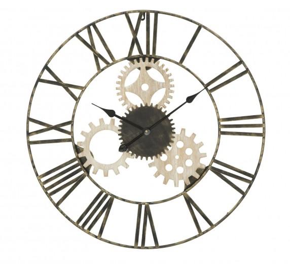 Ceas de perete Gear Round Natural, Ø70 cm