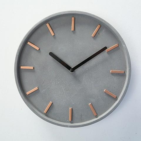 Ceas de perete Gela Gri, Ø27 cm