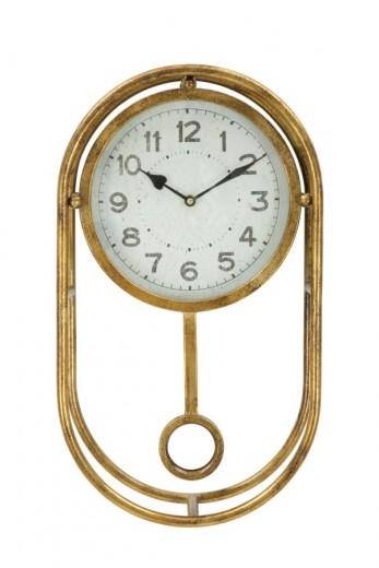 Ceas de perete Glam Pendol Auriu, 29,5 x 52 cm