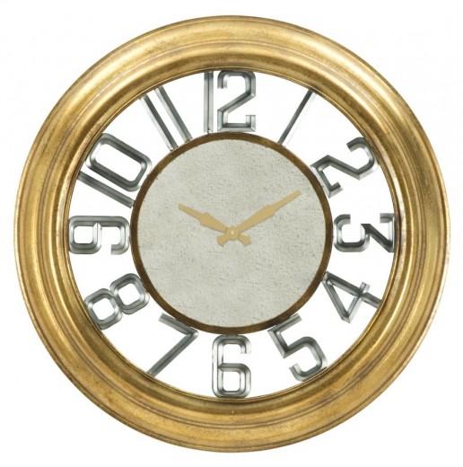 Ceas de perete Glam Ver Auriu, Ø77 cm