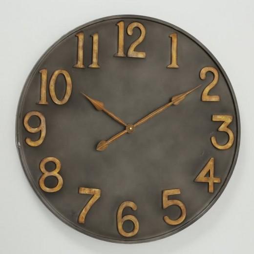 Ceas de perete Lincoln Antique Grafit, Ø76 cm
