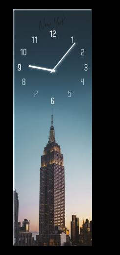 Ceas de perete Manhattan GC017, 20 x 60 cm