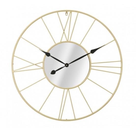Ceas de perete Mirror Auriu, Ø 80 cm