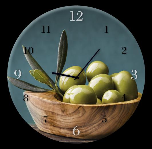 Ceas de perete Olives BH007, Ø 30 cm