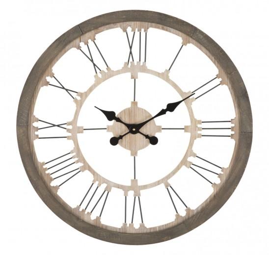 Ceas de perete Simplicity Natural, Ø60 cm