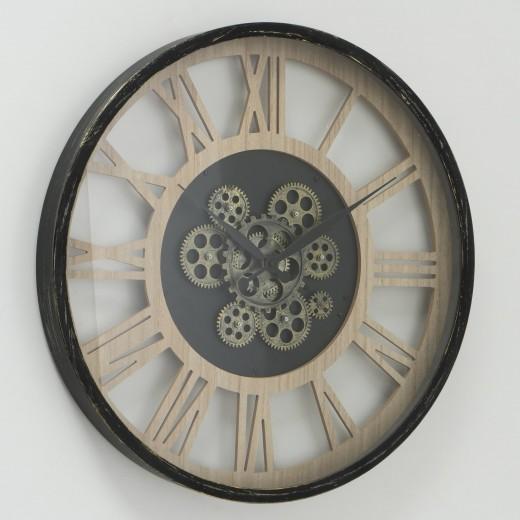 Ceas de perete Takto Natural / Negru, Ø57 cm