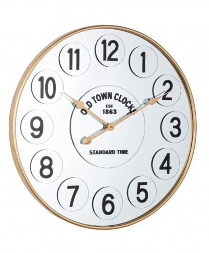 Ceas de perete Ticking Q44 Auriu, Ø60 cm