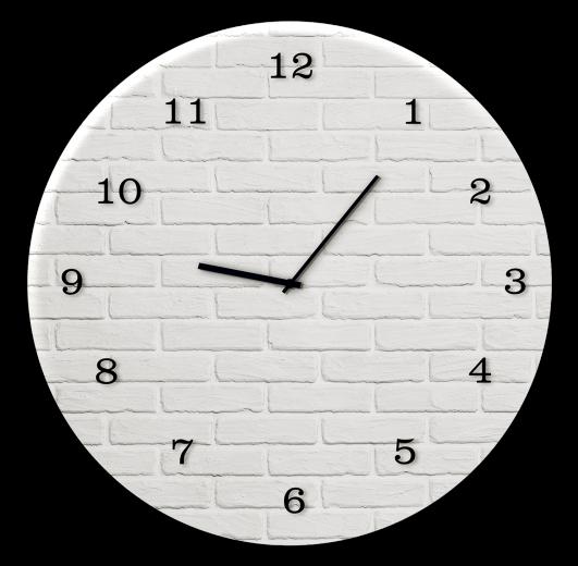 Ceas de perete White Brick GC019, Ø 30 cm