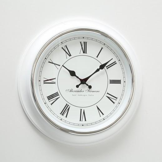 Ceas de perete Yella Alb / Negru, Ø40 cm