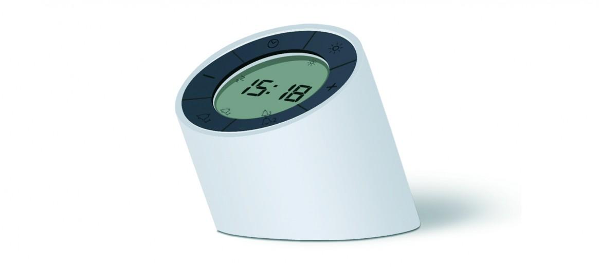 Ceas inteligent Edge Light Alarm Clock White
