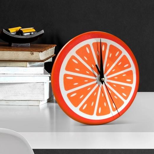 Ceas de birou Orange, Ø22 cm